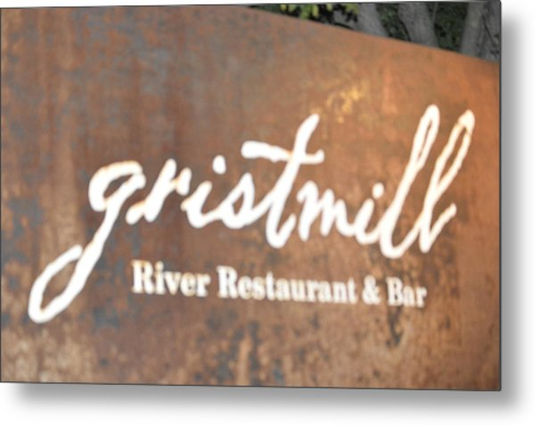 The Gristmill River Restaurant And Bar Metal Print