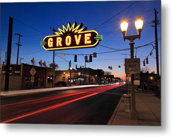 The Grove In Twilight Metal Print