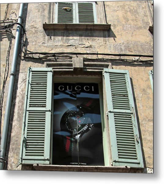 The Gucci Window Metal Print