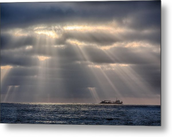 The Guiding Light Metal Print by Peter Tellone