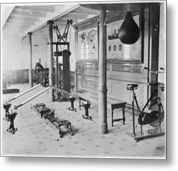 The Gymnasium Of The Titanic Metal Print by Mary Evans Picture Library