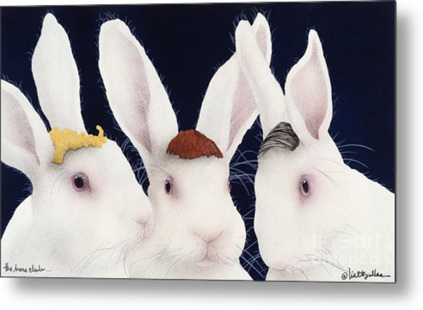 The Hare Club... Metal Print by Will Bullas