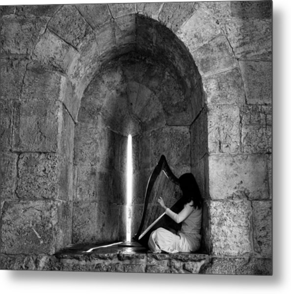 The Harp Player Metal Print