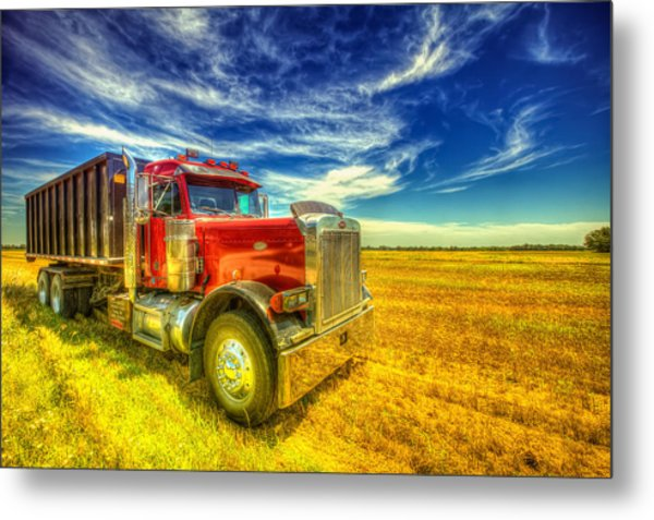 The Harvest Truck Metal Print