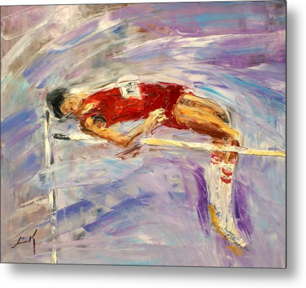 The High Jump Metal Print