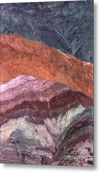 The Hill Of Seven Colors Argentina Metal Print