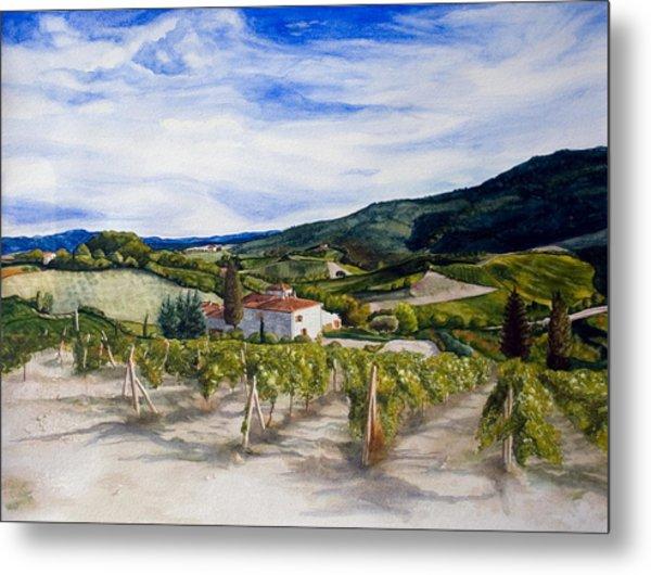 The Hills Of Tuscany Metal Print by Monika Degan