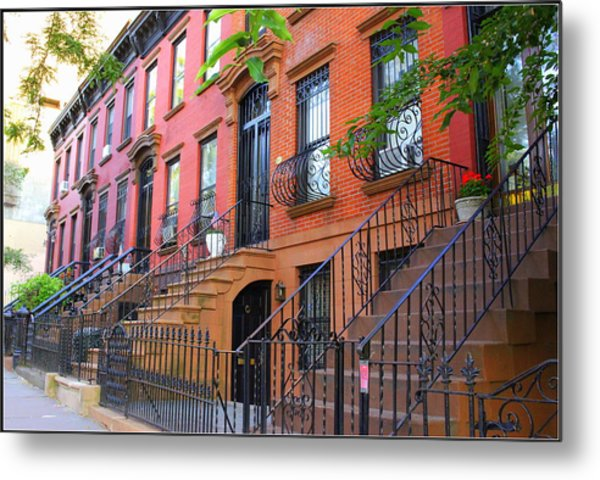 The Historic Brownstones Of Brooklyn Metal Print
