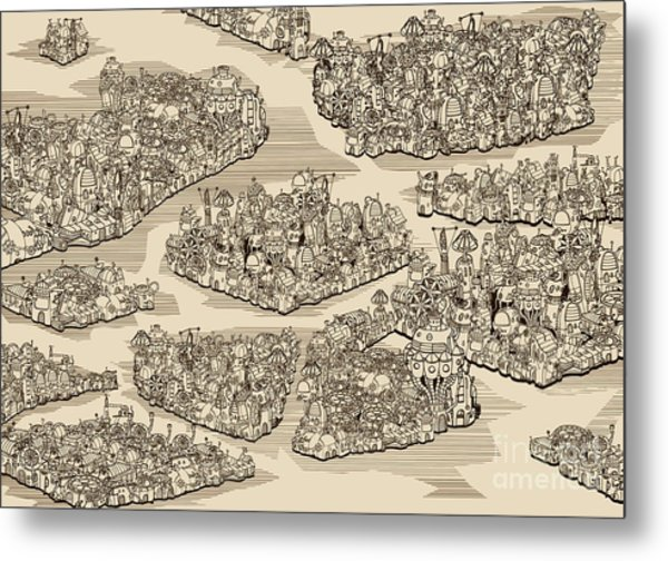 The History We Never Had. Map Metal Print
