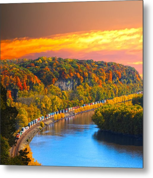 The Hobo Train Up The Mississippi Metal Print