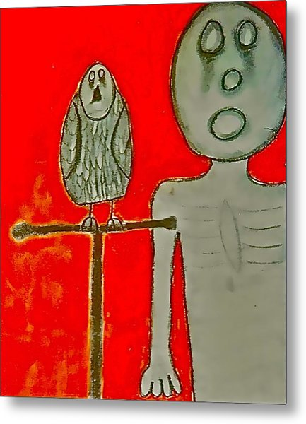 The Hollow Men 88 - Bird Metal Print