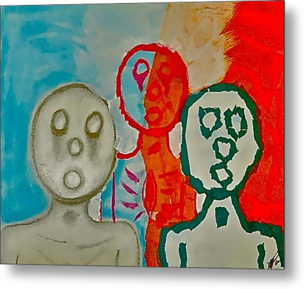 The Hollow Men 88 - Study Of Three Metal Print