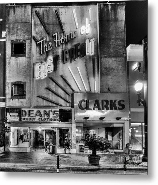 The Home Of Easy Credit Metal Print by Dee Zunker