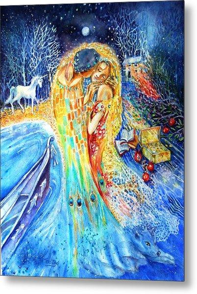 The Homecoming Kiss After Gustav Klimt Metal Print