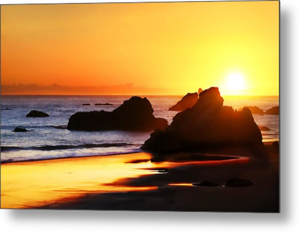 The Honeymoon Sunset  Metal Print