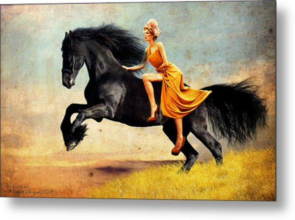 The Horsewoman Metal Print by Rick Buggy