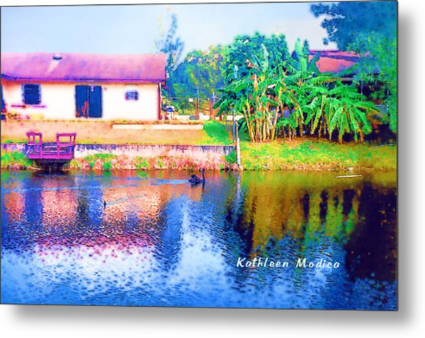 The House Across The Way Metal Print