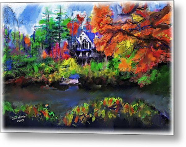 The House At Highlands Metal Print