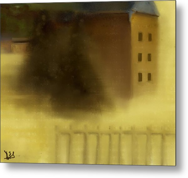 The House Beyond The Fence #c-2 Metal Print