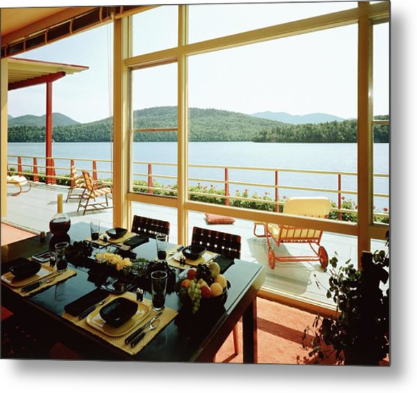 The House Of Mr. And Mrs. Alfred Rose On Lake Metal Print