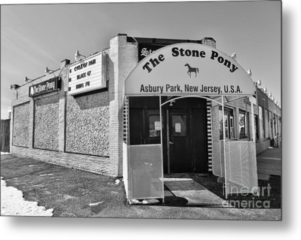 The House That Bruce Built - The Stone Pony Metal Print by Lee Dos Santos