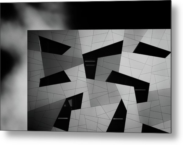 The House With The Shapes Metal Print