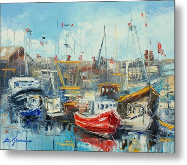 The Howth Harbour Metal Print