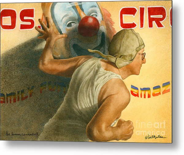 The Human Cannonball... Metal Print
