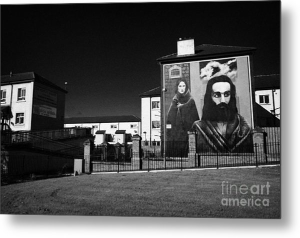 The Hunger Strike Raymond Mccartney Mural Part Of The Peoples Gallery Murals In Rossville Street Of The Bogside Area Of Derry Londonderry Metal Print