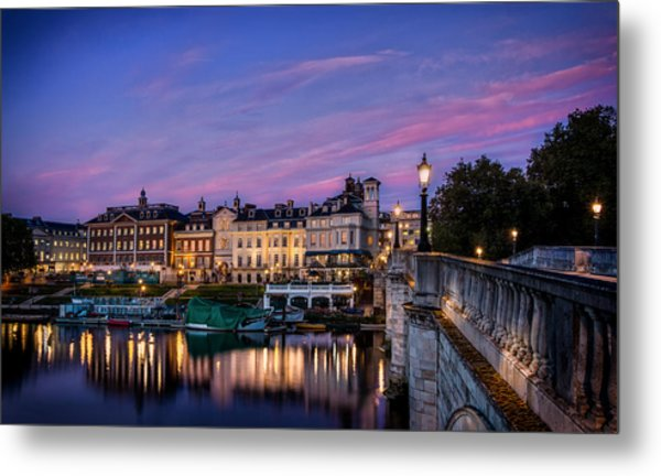 The Iconic Richmond By The River Metal Print by Leigh Cousins