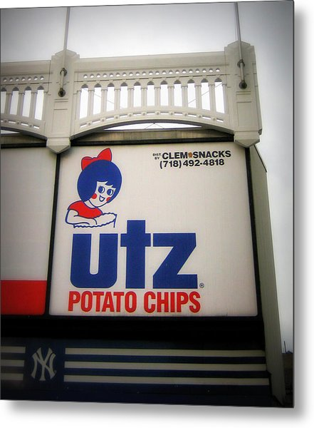 The Iconic Utz Sign Metal Print