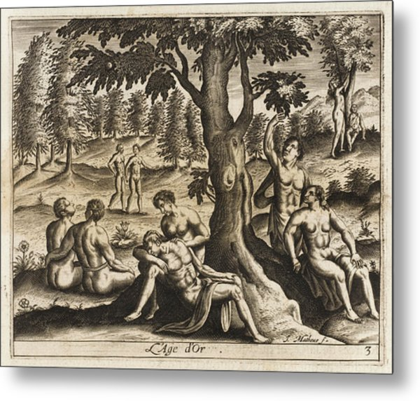The Idyllic Period Of Human  History Metal Print by Mary Evans Picture Library