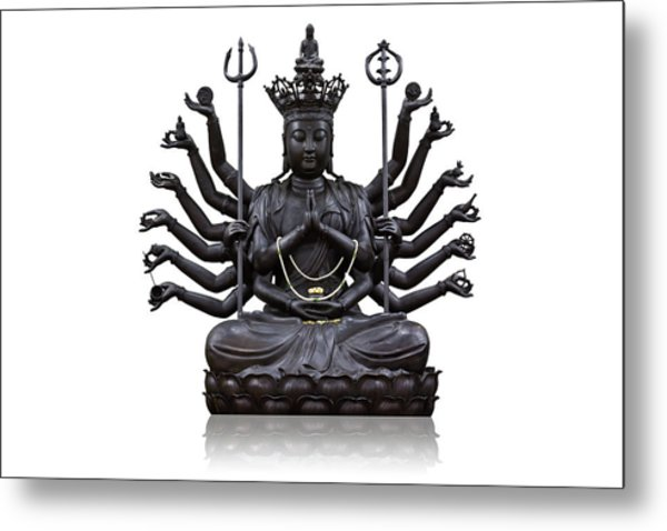 The Images Of Guanyin Black Metal Print