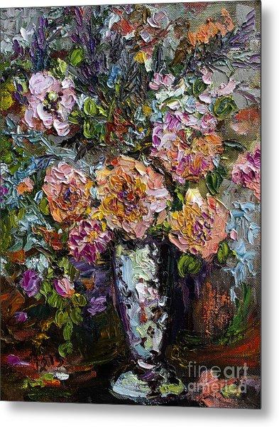 The Impressionists Heirloom Roses Still Life Metal Print