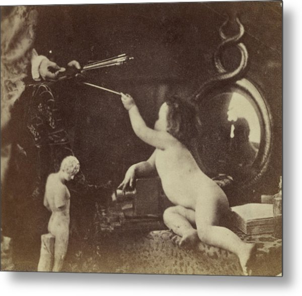 The Infant Photography Giving The Painter An Additional Metal Print by Litz Collection