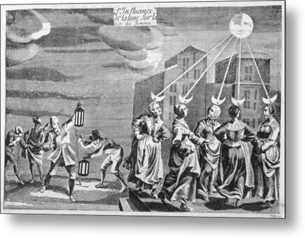 'the Influence Of The Moon Metal Print