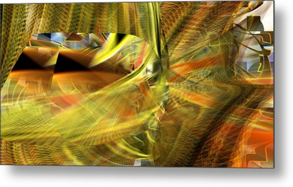 Metal Print featuring the digital art The Inner Workings by rd Erickson