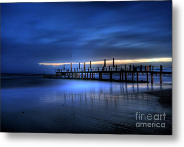 The Innocent White In Blue Metal Print