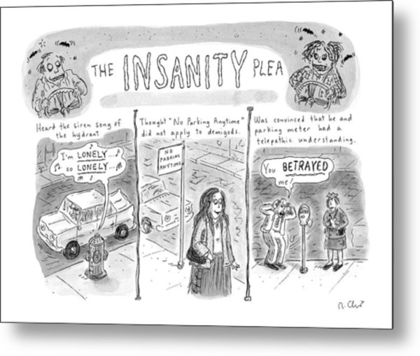 The Insanity Plea Metal Print