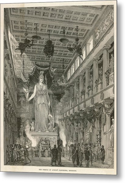 The Interior Of The Parthenon,  Or Metal Print by Mary Evans Picture Library