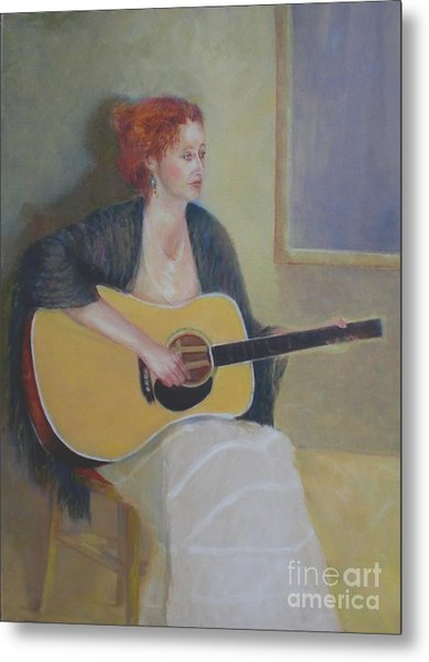 The Irish Singer    Copyrighted Metal Print by Kathleen Hoekstra