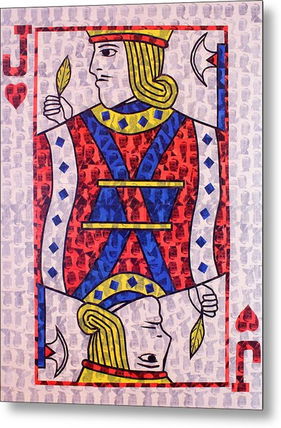 The Jack Of Hearts Metal Print