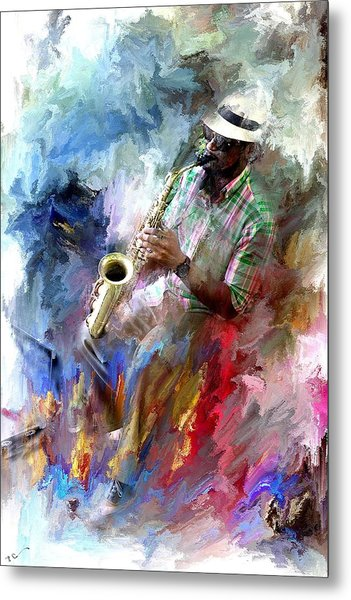 The Jazz Player Metal Print