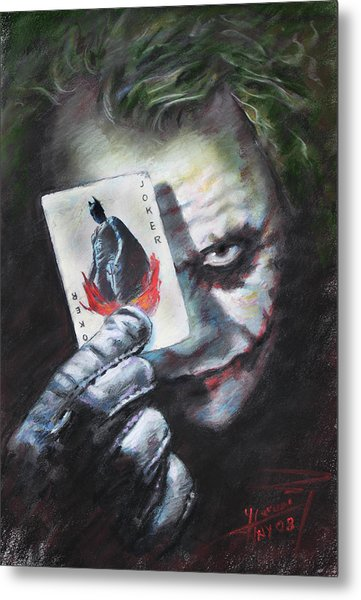 The Joker Heath Ledger  Metal Print