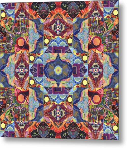 The Joy Of Design Mandala Series Puzzle 1 Arrangement 1 Metal Print