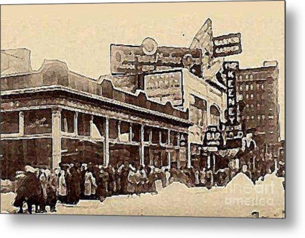 The Keeney Theatre In Newark N J In Winter 1914  Metal Print