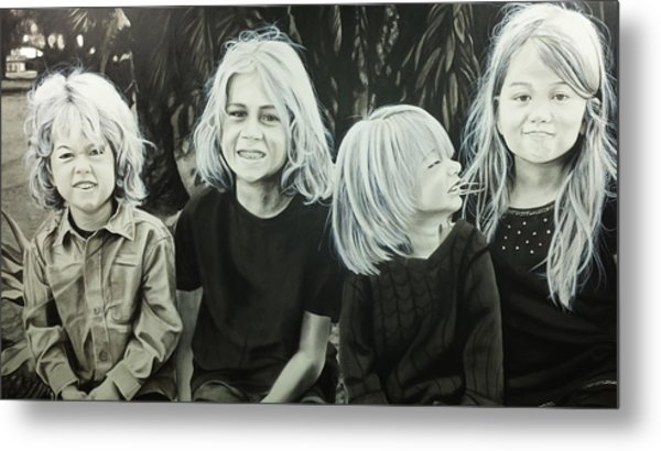 The Kids Metal Print