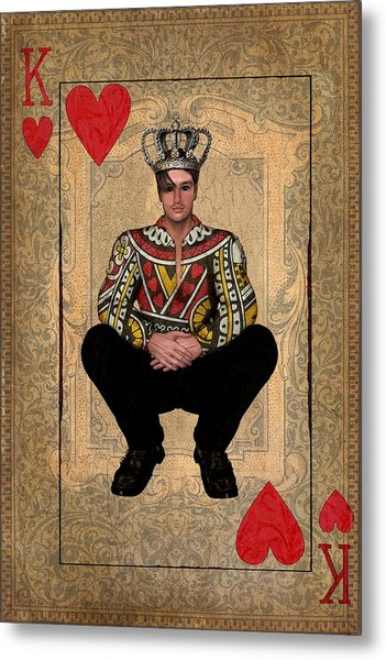 The King Of Hearts Metal Print
