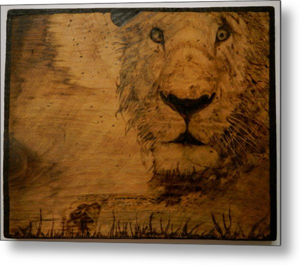 The King Metal Print by William Waters