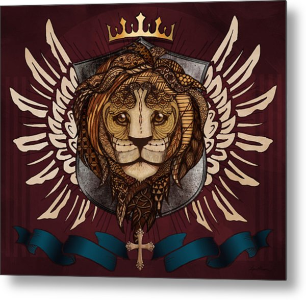 The King's Heraldry Metal Print